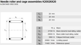 K20x26x20 SORT-4-6 SKF