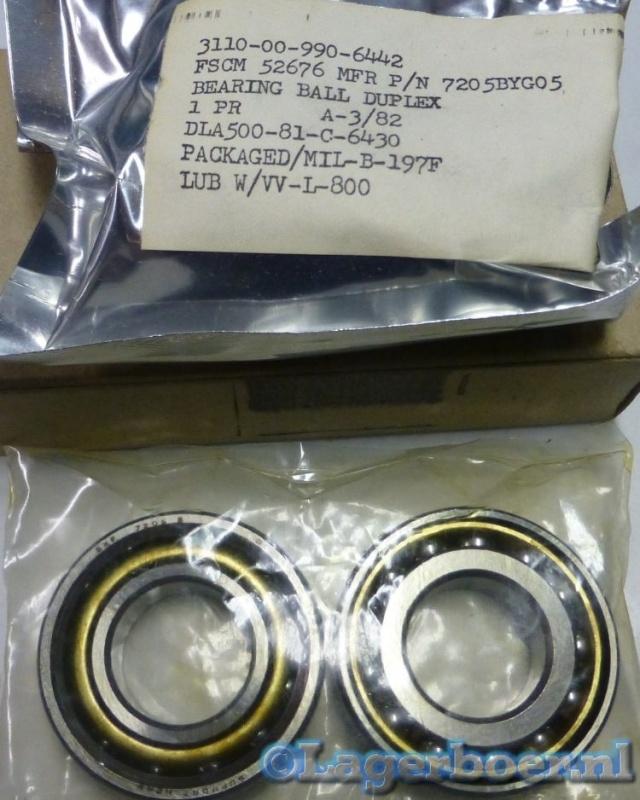 7205-BYG-P5 SKF (Gepaarde set)