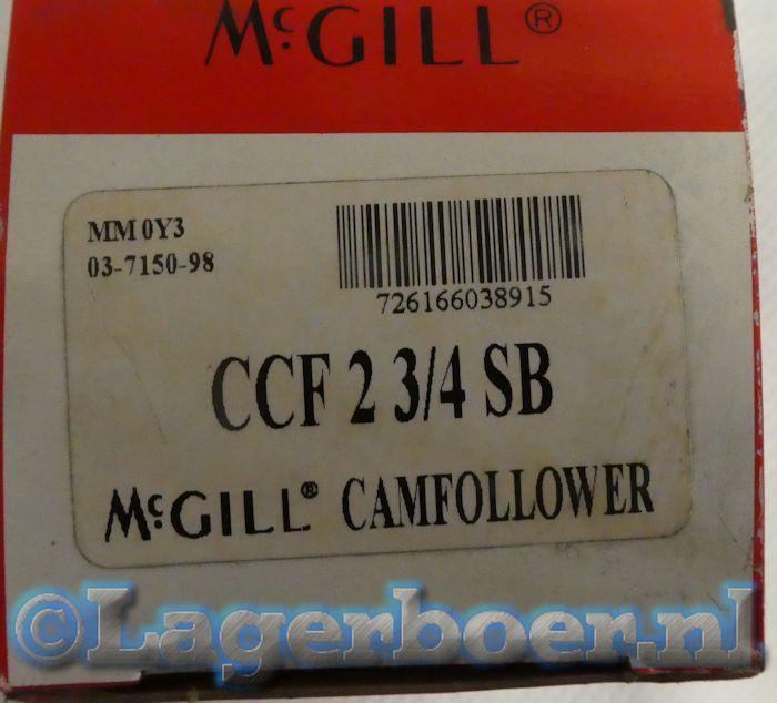 CCF-2¾SB McGill nokvolger (inch)