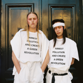 create a green revolution - one size fits all oversized tee