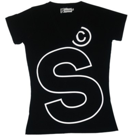 womans S t shirt black