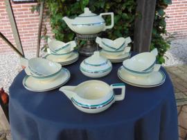 """Art Deco Petrus Regout tea set  """"Copo"""""""