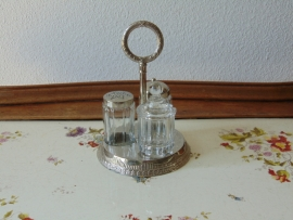 Antique silver plated menage set