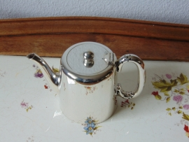 Antique silver plated tea jug