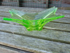 Uranium glass fruit bowl