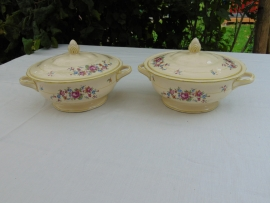 Set antique Plazuid serving dishes