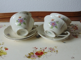 "Antique ceramic teacups ""Mosa"""
