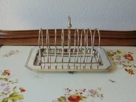 Antique silver plated toast rack