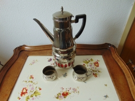 Vintage chrome plated tea service