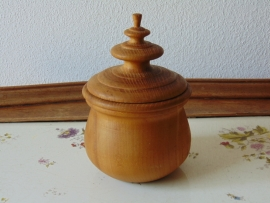 Wooden tabacco jar