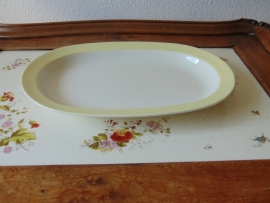 Vintage pastel serving dish Petrus Regout