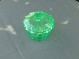 Uranium glazen potje met deksel