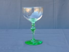 Uranium glass wine glass