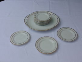 Antique Imperial porcelain cake plates set