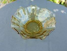 "Beautiful glass Art Decó ""Pavilux"" bowl ."