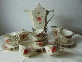 Antique Czechoslovakian tea set.