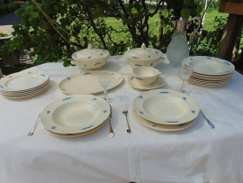 An antique Plazuid dinner service