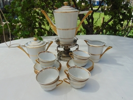 "Antique porcelain Limoges ""Paul Pastaud"" coffee service"