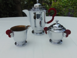 Art Deco chromed coffee set
