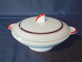 "Société Ceramique Maestricht Art Decó dekschaal ""Gloria"""