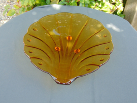 Beautiful glass Art Decó shell shell model