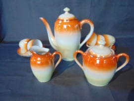 Vintage French porcelain coffee service.