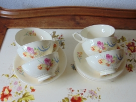 Antique pottery tea cups