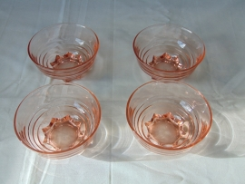 Vintage glass fruit bowls