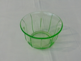 Uranium glass green bowl
