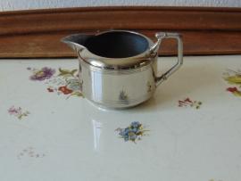 Antique chromed cream jug
