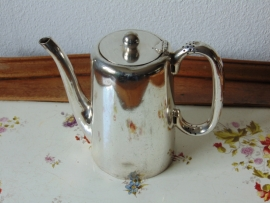 Antique silver plated hotel teapot 2