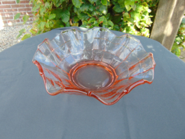 "Beautiful glass Art Decó ""Pavilux"" bowl"