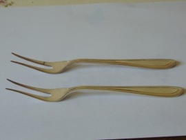 Antique silver plated meat forks