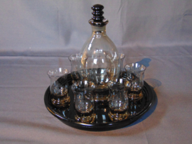 "Fumé glass liqueur set ""Curro"""