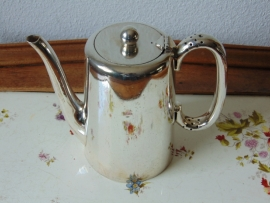 Antique silver plated hotel teapot 01