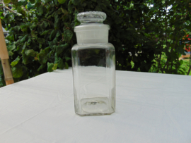 Clear glass candy jar