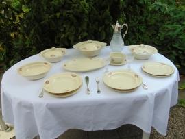 Antikes Tschechisches Abendessen Geschirr