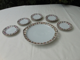 Antique Mosa 13-piece cake set