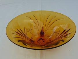 Glazen Art Decó schaal