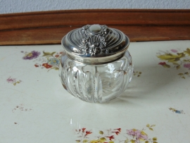 Antique crystal candy jar