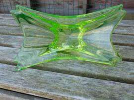 Uranium glass fruit bowl