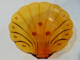 Glass art deco scale shell model