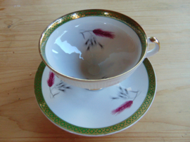 Vintage elegant porcelain teacup