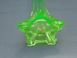 Uranium glass vase for