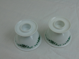 Two porcelain candlesticks
