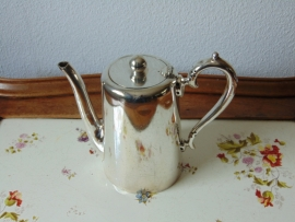 Antique silver plated hotel teapot 3