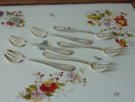 Antique silver oyster spoons