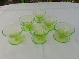 Uranium glass ice cup