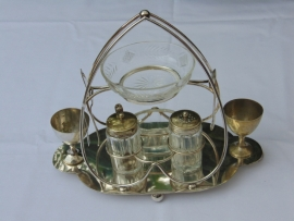 Antique silver plated breakfast set