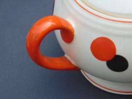Vintage Harlekin koffieservies